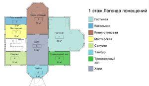 1 этаж момещения, дом 15400 на 14600
