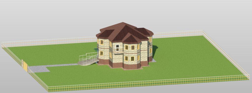 3Д вид1 дом 15400 на 14600