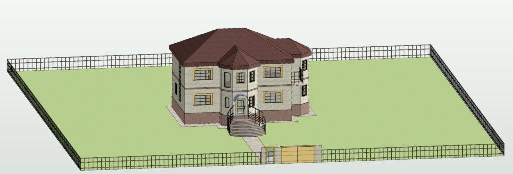 3Д вид2 дом 15400 на 14600