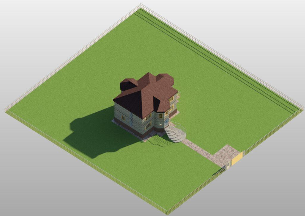 3Д вид3 дом 15400 на 14600