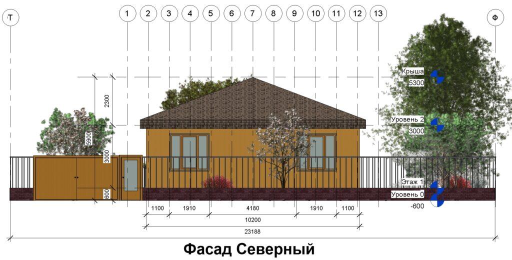 Дом 10 на 14 фасад северный