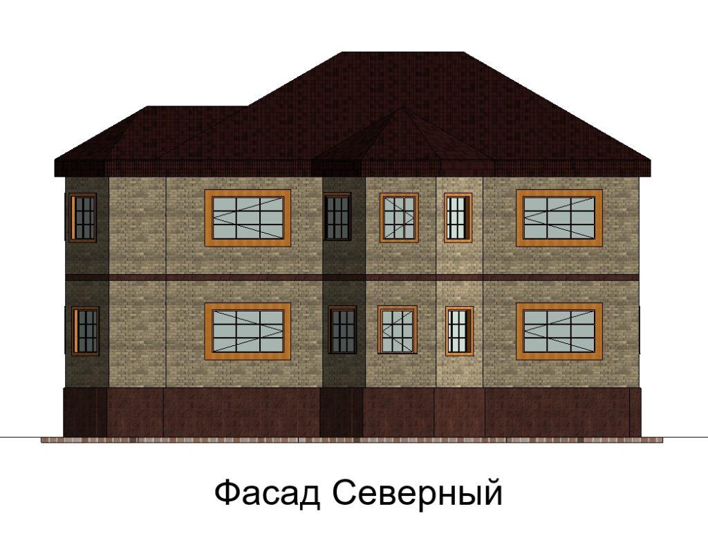 Фасад Северный дом 15400 на 14600
