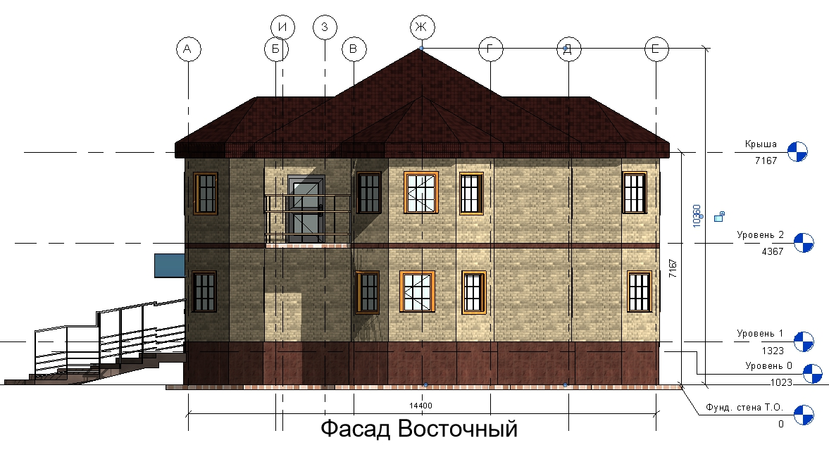 Фасад Восточный дом 15400 на 14600