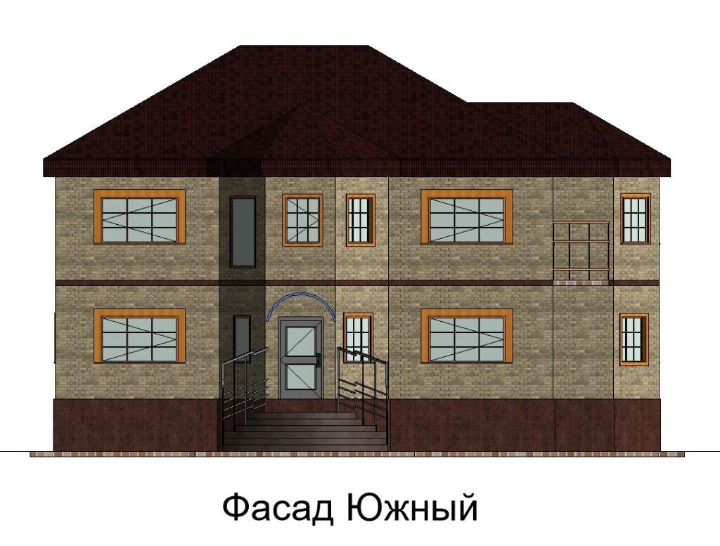 Фасад Южный дом 15400 на 14600