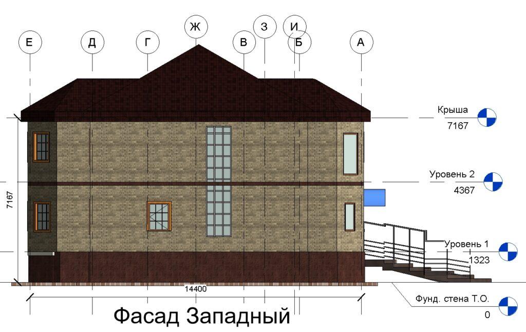 Фасад Западный дом 15400 на 14600