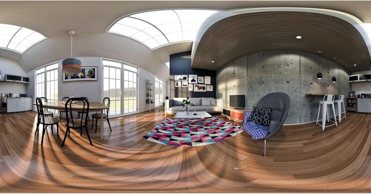 3Д панорама помещения.